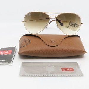 RB 3025 001/51 Ray-Ban Gold Aviator Sunglasses